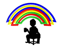 Rainbow Corner embroidery design