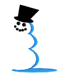 Snowmans Shadow embroidery design