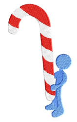 Candy Cane embroidery design