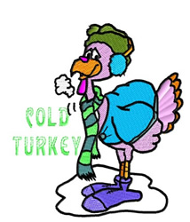 Cold Turkey embroidery design
