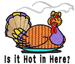 Hot Turkey embroidery design