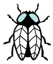 Fly embroidery design