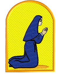 Nun Praying embroidery design