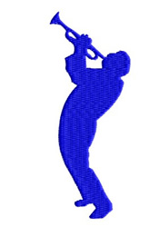 Trumpet Man embroidery design