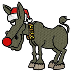 Rudolf Donkey embroidery design