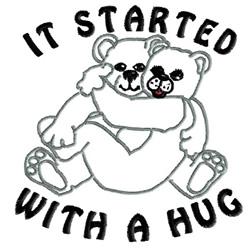 Bear Hug embroidery design