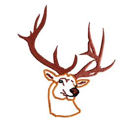 Deer Head 2 embroidery design
