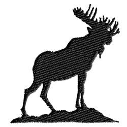 Moose embroidery design