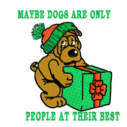 Maybe Dogs embroidery design
