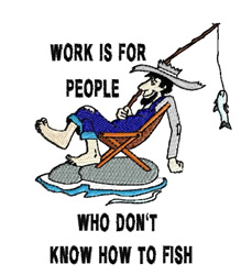 Work Is For Others embroidery design