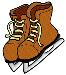 Ice Skates embroidery design