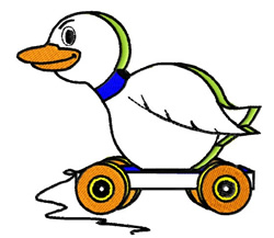 Toy Ducky embroidery design