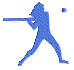Girls Baseball embroidery design