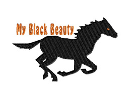 My Black Beauty embroidery design