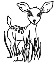 Baby Deer embroidery design