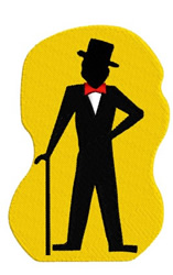 Man in Tux embroidery design