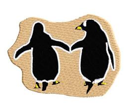 Penguin Couple embroidery design