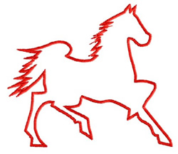 Horse 4 Outline embroidery design