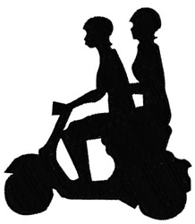 Motor Scooter embroidery design