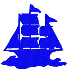 Ship 2 embroidery design