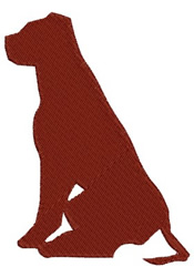 Dog Sitting embroidery design