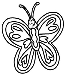 Butterfly 9 Outline embroidery design
