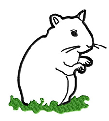Hamster Outline embroidery design
