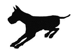 Charging Dog embroidery design