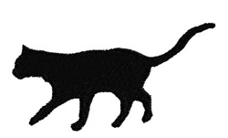 Cat Walking embroidery design