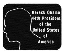 Obama President embroidery design