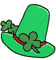 Irish Green Hat embroidery design