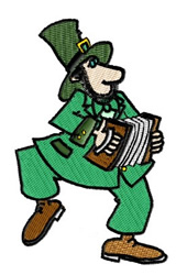 Irishman with Concertina embroidery design