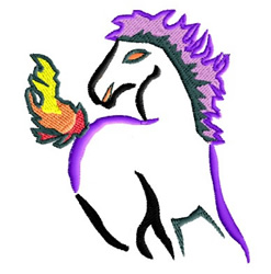 Hell Horse embroidery design