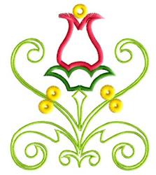 Tulip Flower Fantasy embroidery design