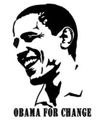 Barack Obama for Change embroidery design