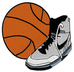 Basketball Sport embroidery design