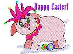 Easter Jester Pig embroidery design