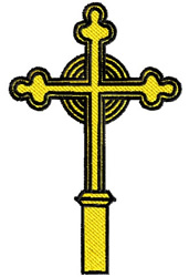 Christian Religious Cross embroidery design