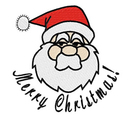 Santa Claus -Merry Christmas embroidery design