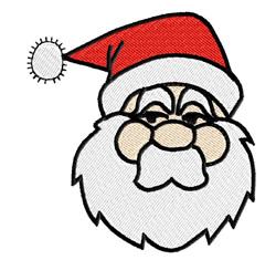 Santa Claus Head embroidery design