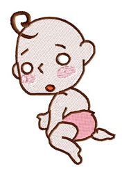 Crawling Baby embroidery design