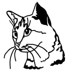 Egyptian Mau Cat embroidery design