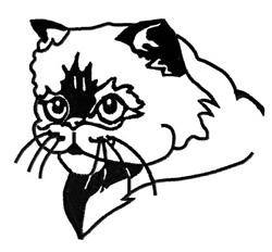 Himalayan Cat embroidery design