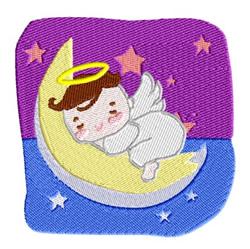 Angel Baby Sleeping on the Moon embroidery design