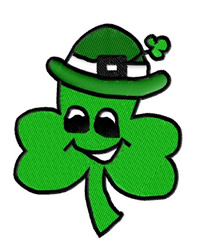 Clover leaf with Hat embroidery design