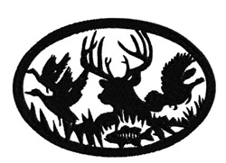 Hunting Scene embroidery design