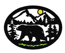 Bear Scenery embroidery design