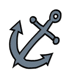 Mariners Cross embroidery design