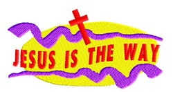 Jesus Is The Way embroidery design