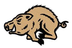 Razorback Mascot embroidery design